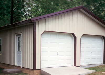 Garage using MP Panel in Hickory Moss and Cocoa Brown